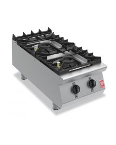 This is an image of a Falcon F900 Two Burner Countertop Boiling Hob Natural Gas G9042A