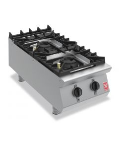 This is an image of a Falcon F900 Two Burner Countertop Boiling Hob Propane Gas G9042A