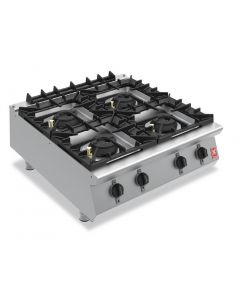 This is an image of a Falcon F900 Four Burner Countertop Boiling Hob Natural Gas G9084A