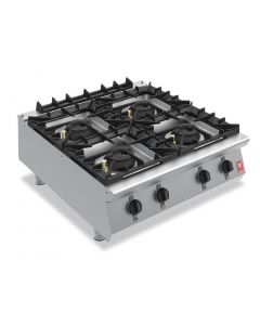 This is an image of a Falcon F900 Four Burner Countertop Boiling Hob Propane Gas G9084A