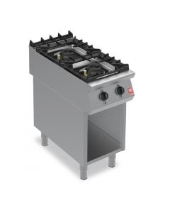 This is an image of a Falcon F900 Two Burner Boiling Hob on Fixed Stand Natural Gas G9042A