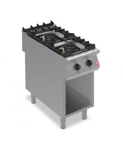 This is an image of a Falcon F900 Two Burner Boiling Hob on Fixed Stand Propane Gas G9042A