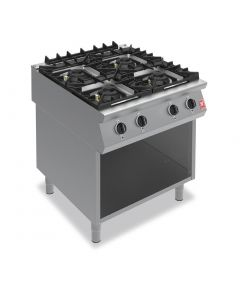 This is an image of a Falcon F900 Four Burner Boiling Hob on Fixed Stand Propane Gas G9084A