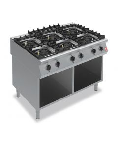 This is an image of a Falcon F900 Six Burner Boiling Hob on Fixed Stand Propane Gas G90126A