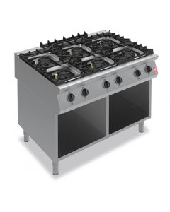 This is an image of a Falcon F900 Six Burner Boiling Hob on Fixed Stand Propane Gas G90126B