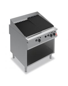 This is an image of a Falcon F900 900mm Wide Chargrill on Fixed Stand Natural Gas (Direct)