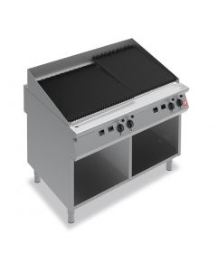 This is an image of a Falcon F900 1200mm Wide Chargrill on Fixed Stand Natural Gas (Direct)