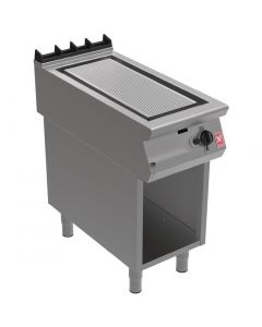 This is an image of a Falcon F900 Ribbed Griddle on Fixed Stand NAT (Direct)