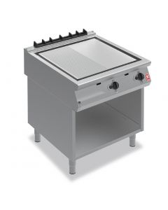 This is an image of a Falcon F900 800mm Ribbed Griddle on Fixed Stand NAT Gas G9581R (Direct)