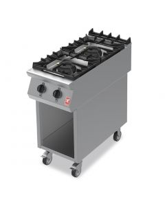 This is an image of a Falcon F900 Two Burner Boiling Hob on Mobile Stand Propane Gas G9042A