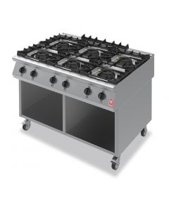 This is an image of a Falcon F900 Six Burner Boiling Hob on Mobile Stand Propane Gas G90126B