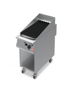 This is an image of a Falcon F900 400mm Wide Chargrill on Mobile Stand Natural Gas (Direct)