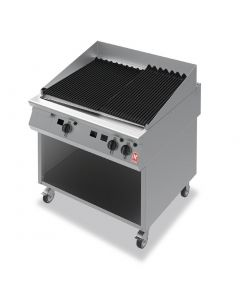 This is an image of a Falcon F900 900mm Wide Chargrill on Mobile Stand Propane Gas (Direct)