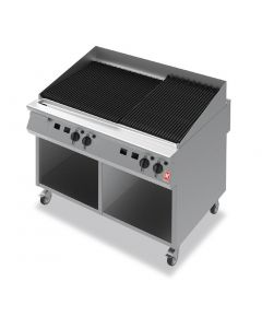 This is an image of a Falcon F900 1200mm Wide Chargrill on Mobile Stand Natural Gas (Direct)