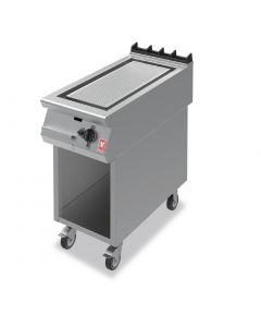 This is an image of a Falcon F900 Ribbed Griddle on Mobile Stand Natural Gas (Direct)