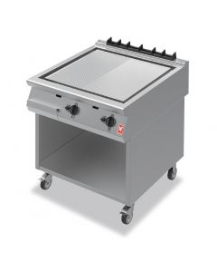 This is an image of a Falcon F900 Ribbed Griddle on Mobile Stand Propane Gas (Direct)