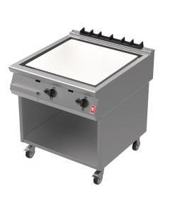 This is an image of a Falcon F900 800(w)mm Chrome Gas Griddle NAT (Mobile Stand) (Direct)