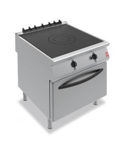 This is an image of a Falcon F900 Solid Top Oven Range on Legs Natural Gas G9181