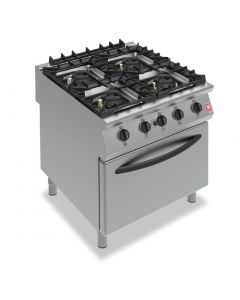 This is an image of a Falcon F900 4 Burner Oven Range on Feet Propane Gas (Direct)
