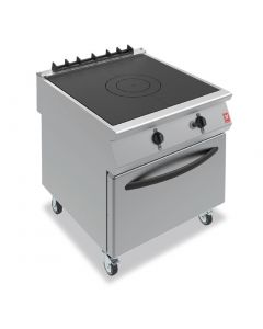 This is an image of a Falcon F900 Solid Top Oven Range On Castors Propane Gas (Direct)
