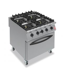 This is an image of a Falcon F900 4 Burner Oven Range On Castors Natural Gas (Direct)