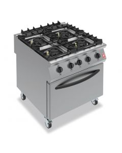 This is an image of a Falcon F900 4 Burner Oven Range On Castors Propane Gas (Direct)