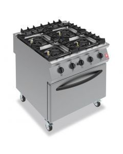 This is an image of a Falcon F900 Four Burner Oven Range on Castors Natural Gas G9184A