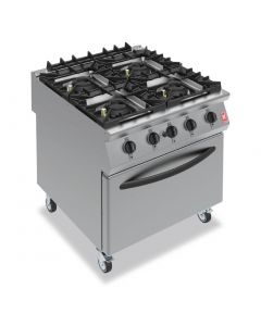 This is an image of a Falcon F900 Four Burner Oven Range on Castors Propane Gas G9184A