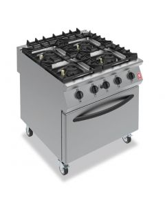 This is an image of a Falcon F900 Four Burner Oven Range on Castors Natural Gas G9184B