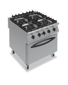 This is an image of a Falcon F900 Four Burner Oven Range on Castors Propane Gas G9184B
