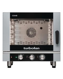 This is an image of a Blue Seal Turbofan 5 Grid Manual Control Combi Oven EC40M5