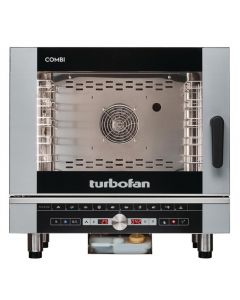 This is an image of a Blue Seal Turbofan 5 Grid Touch Control Combi Oven With Auto Wash EC40D5