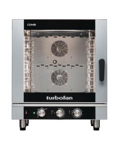 This is an image of a Blue Seal Turbofan 7 Grid Manual Control Combi Oven EC40M7