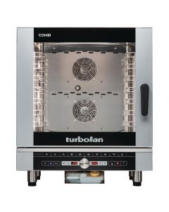 This is an image of a Blue Seal Turbofan 7 Grid Touch Control Combi Oven with Auto Wash EC40D7