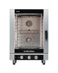 This is an image of a Blue Seal Turbofan 10 Grid Manual Control Combi Oven EC40M10