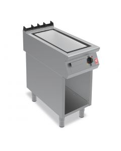 This is an image of a Falcon F900 Ribbed Steel 400mm Griddle on Fixed Stand E9541R