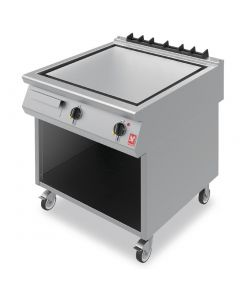 This is an image of a Falcon F900 Smooth Steel 800mm Griddle on Mobile Stand E9581
