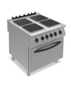 This is an image of a Falcon F900 Four Hotplate Electric Oven Range E9184