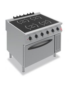 This is an image of a Falcon F900 Four Heat Zone Induction Range i91105