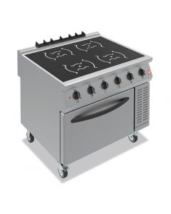 This is an image of a Falcon F900 Four Heat Zone Induction Range on Castors i91105