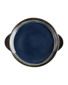 "This is an image of a Olympia Nomi Blue Tapas Round Tray - 8 34x7 12"" 223x190mm (Box 6)"