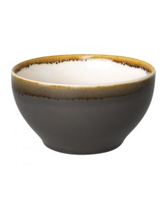 "This is an image of a Olympia Kiln Smoke Round Bowl - 635ml 22oz 140mm 5 12"" (Box 6)"