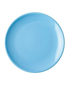 """This is an image of a Olympia Cafe Coupe Plate Blue - 200mm 8"""" (Box 12)"""