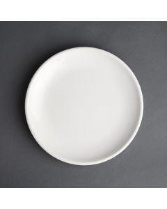 "This is an image of a Olympia Cafe Coupe Plate White - 250mm 10"" (Box 6)"