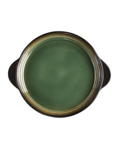 "This is an image of a Olympia Nomi Green Tapas Round Tray - 223x190mm 8 34x7 12"" (Box 6)"