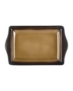 "This is an image of a Olympia Nomi Yellow Tapas Rectangular Tray - 11x7"" 283x178mm (Box 6)"