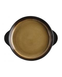 "This is an image of a Olympia Nomi Yellow Tapas Round Tray - 8 34x7 12"" 223x190mm (Box 6)"