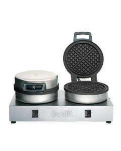 This is an image of a Dualit Double Waffle Iron 74002