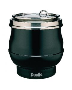 This is an image of a Dualit Hotpot Soup Kettle Satin Black 70012