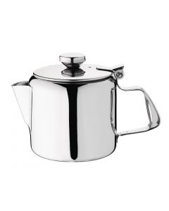 This is an image of a Olympia Concorde Teapot StSt Mirror Finish - 450ml 16oz